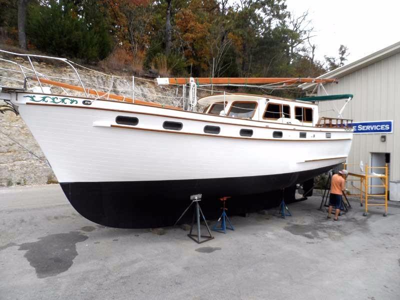 1984 Island Trader 40 Motorsailer Power Boat For Sale