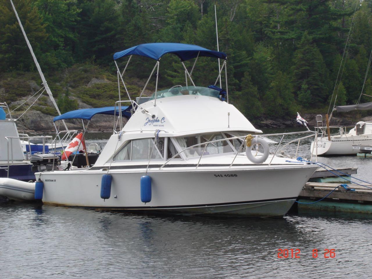 1976 Bertram 26 Flybridge Cruiser Power Boat For Sale