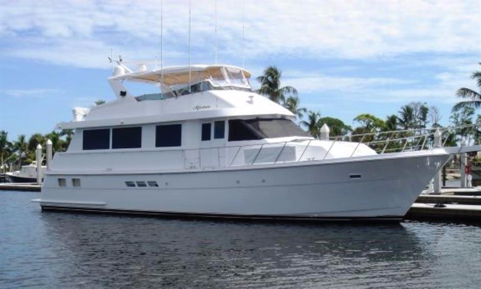 1998 Hatteras 65 Sport Deck Motor Yacht Power Boat For Sale