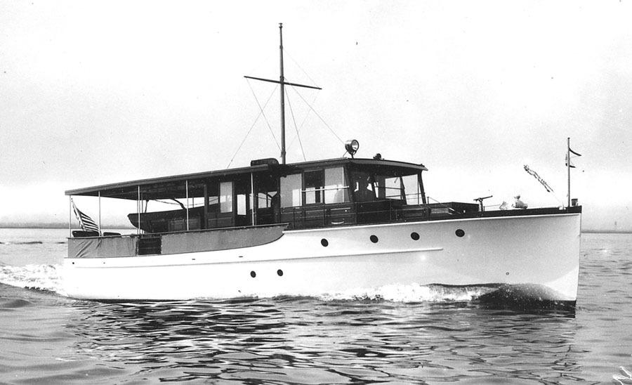 1929 Elco Flat Top Classic Motor Yacht Power Boat For Sale