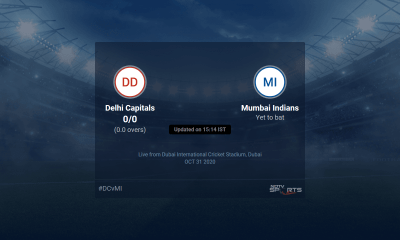 Delhi Capitals vs Mumbai Indians live score over Match 51 T20 1 5 updates | Cricket News