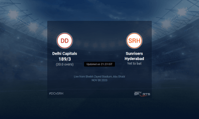 Delhi Capitals vs Sunrisers Hyderabad live score over Qualifier 2 T20 16 20 updates | Cricket News