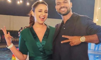 Shikhar Dhawan Poses With Bollywood Actress Parineeti Chopra While Shooting Together, Thanks Her For