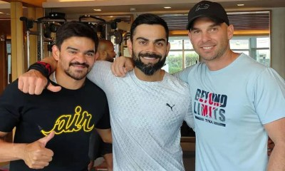 """IND vs ENG: Virat Kohli Shares Pic With India's Strength And Conditioning Coaches, Says """"Boys Make Life Difficult In Gym""""   Cricket News"""