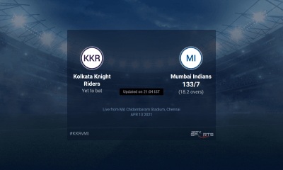 Kolkata Knight Riders vs Mumbai Indians live score over Match 5 T20 16 20 updates | Cricket News