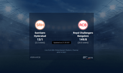Sunrisers Hyderabad vs Royal Challengers Bangalore live score over Match 6 T20 1 5 updates | Cricket News