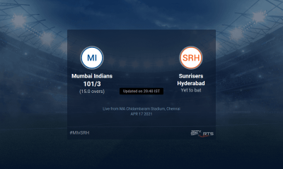 Mumbai Indians vs Sunrisers Hyderabad live score over Match 9 T20 11 15 updates | Cricket News