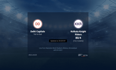 Delhi Capitals vs Kolkata Knight Riders live score over Match 25 T20 11 15 updates | Cricket News