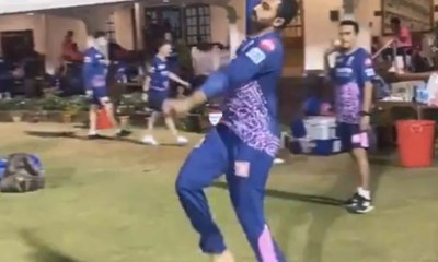 IPL 2021: Rajasthan Royals Spinner Shreyas Gopal Imitates Jasprit Bumrahs Bowling Action Better Than Fast Bowler Himself. Watch