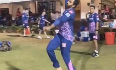 IPL 2021: Rajasthan Royals Spinner Shreyas Gopal Imitates Jasprit Bumrahs Bowling Action Better Than Fast Bowler Himself. Watch