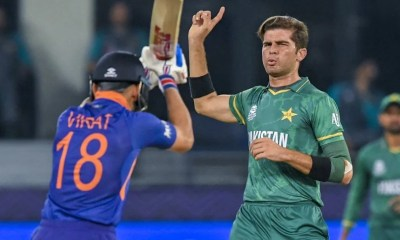 T20 World Cup, India vs Pakistan: Lightning Strikes India Twice As Shaheen Afridi Removes Openers. Watch