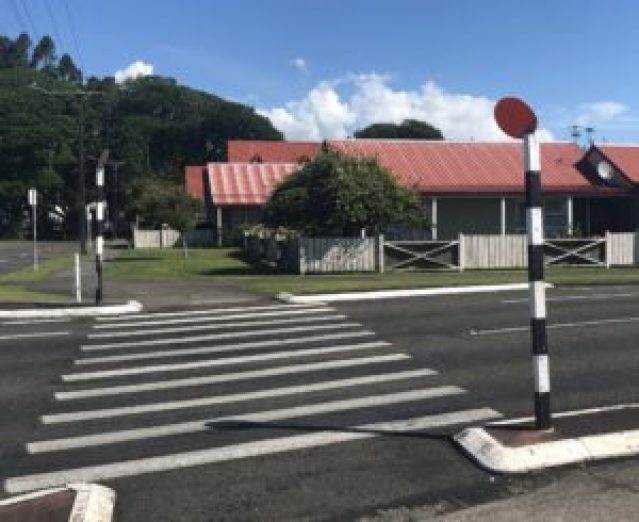 crosswalk in New Zealand