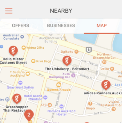 Goody card iOS app map view