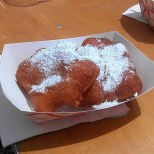 The New in NOLA crew shared this amazing beignets from Beignet Roule. So, so good. (photo by Carlie Kollath Wells/New in NOLA)