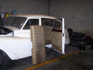 Before restoration work had begun on the Austin Vandenplas Princess Limousine