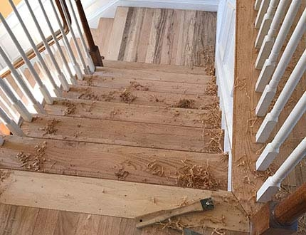 Stair Restorations Dustless Hardwood Floors New Jersey | Refinishing Hardwood Stairs Cost | Basement Stairs | Laminate Flooring | Stain | Hardwood Floor Refinishing | Sanding