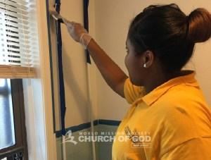 World Mission Society Church of God, wmscog, senior center, North Brunswick, NJ, New Jersey, volunteers, painting, project, senior citizen, elderly, volunteerism, christian