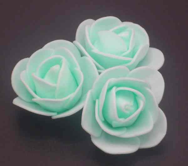 fleur embellissement mousse rose vert pastel