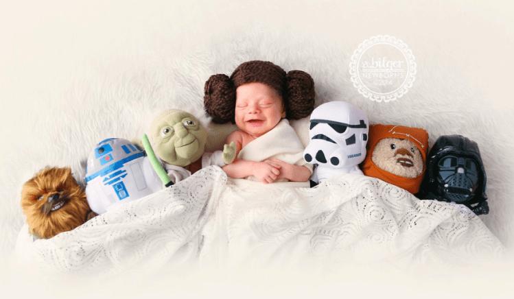 Baby-Kostüm-Prinzessin-Leia