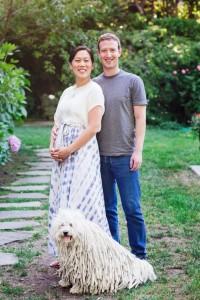 Priscilla Chan, Mark Zuckerberg - und ihr Hund