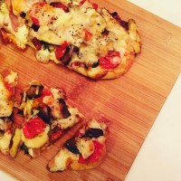 Roasted Vegetable Whole Wheat Flatbread