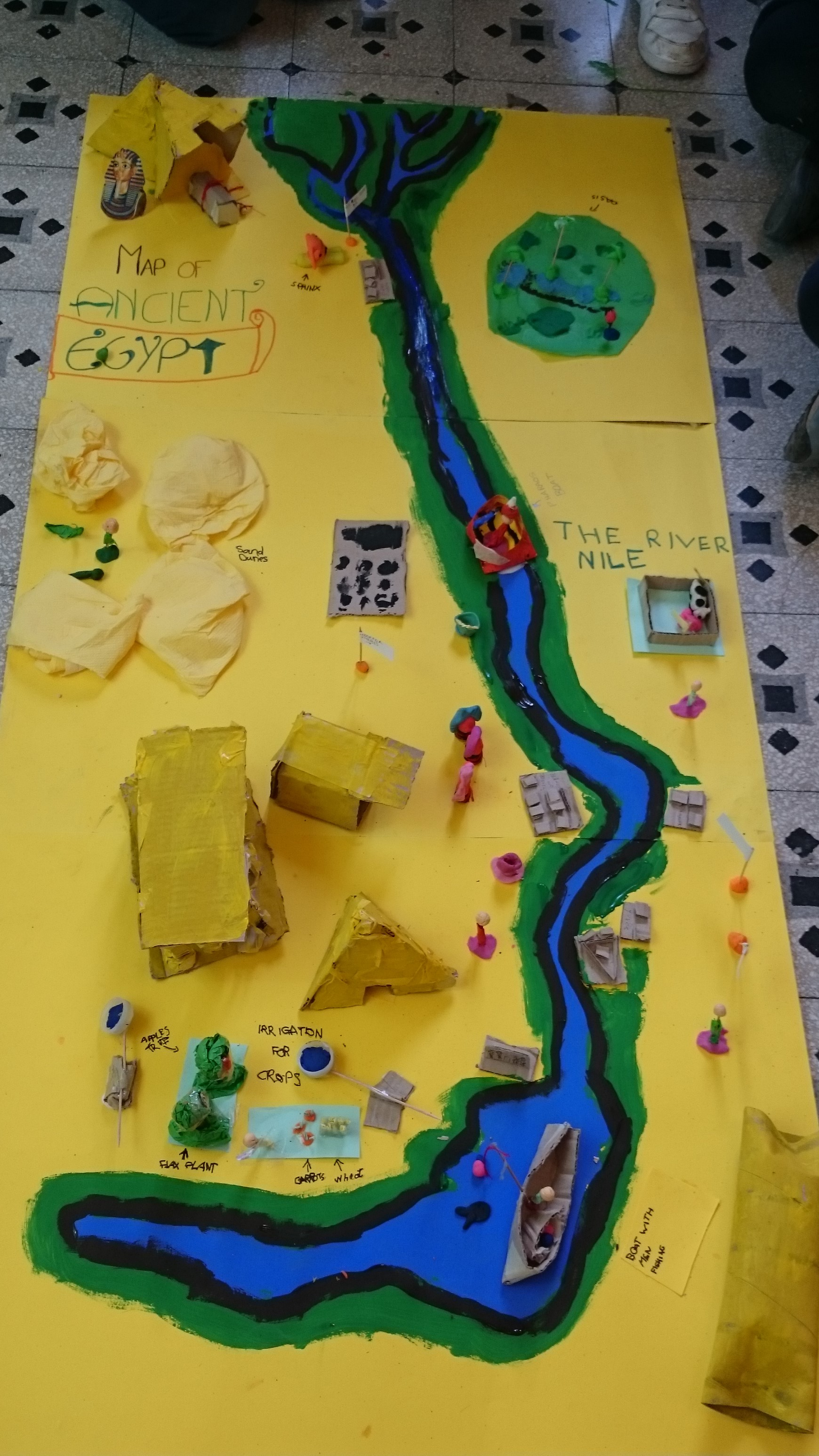The 3d Map Of Ancient Egypt New Kids On The Blog