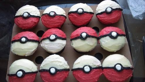 #Pokemon Ball Cupcakes