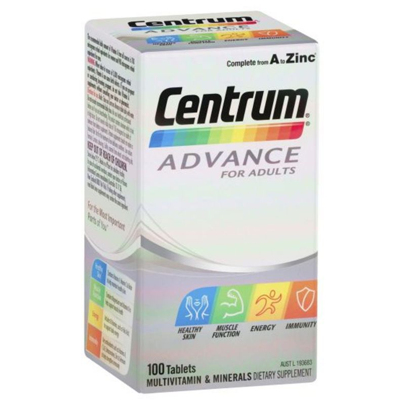 Centrum Advance For Adults Tablets - 100 Pack