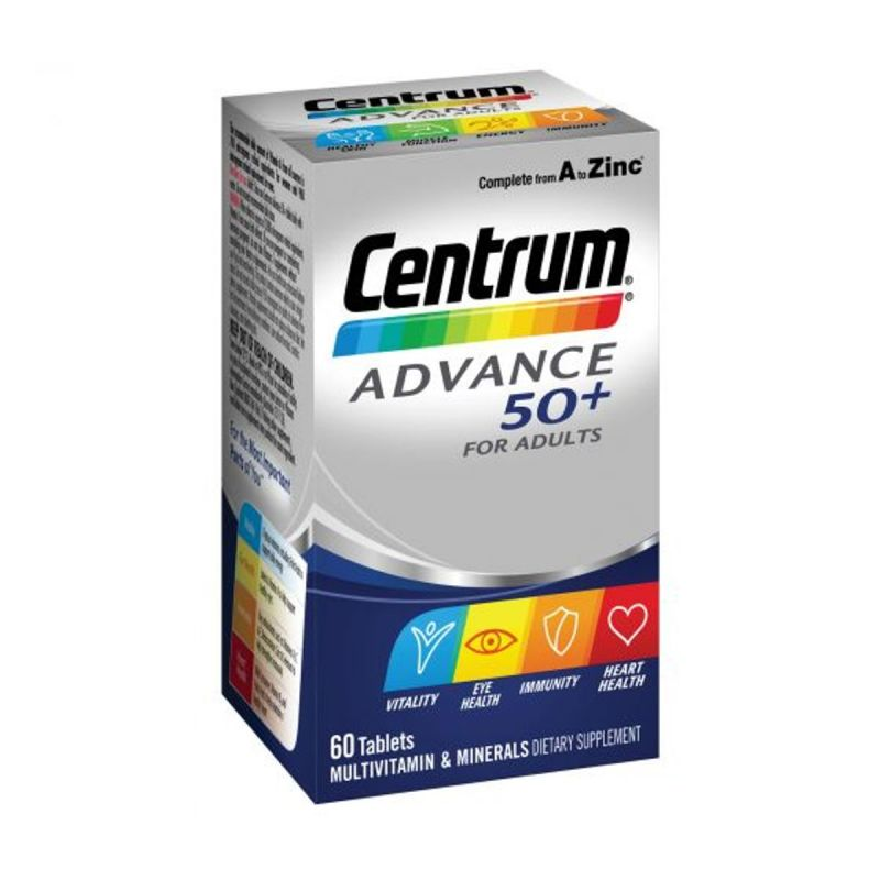 Centrum Advance 50+ For Adults Tablets - 60 Pack