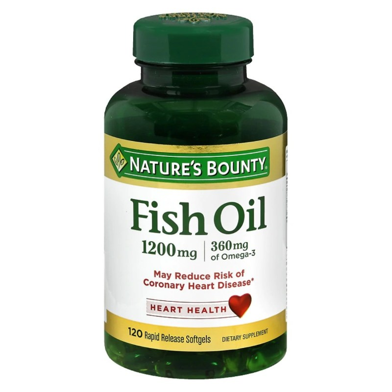 Fish Oil 1200 mg Dietary Supplement 120 Rapid Release Softgels