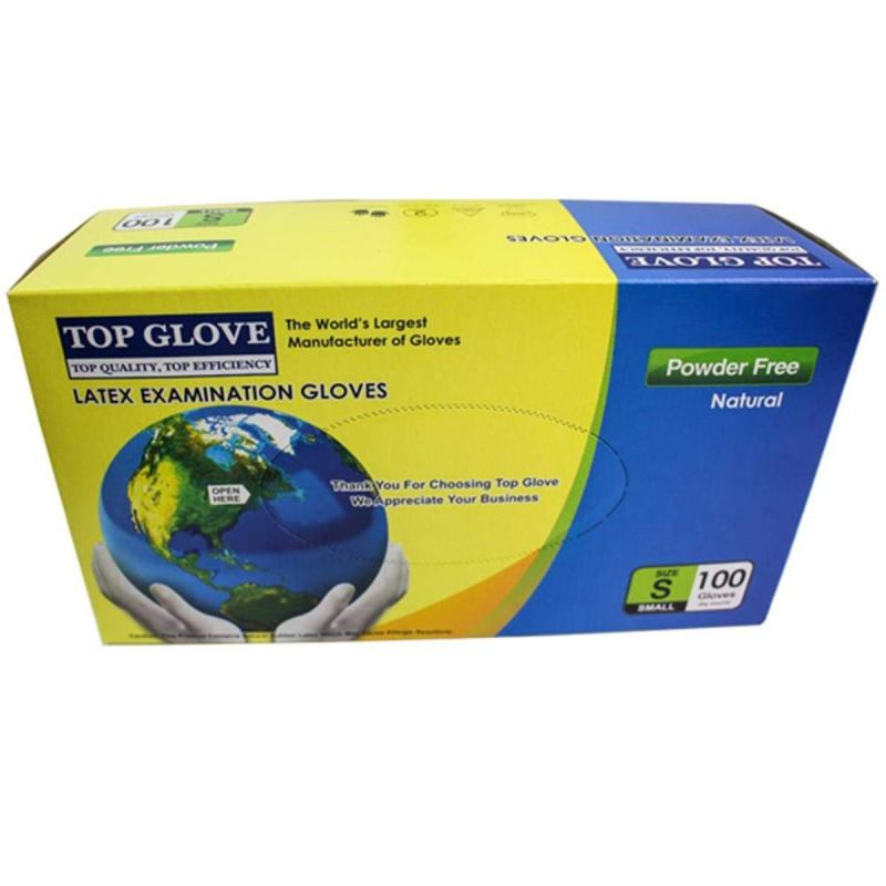 Top Glove Nitrile Disposable Gloves – Powder-free 100 Pcs S