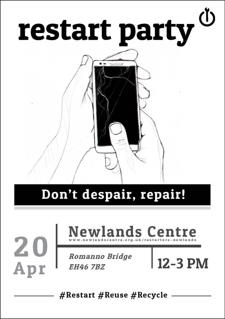 Restart Party April 2019 poster