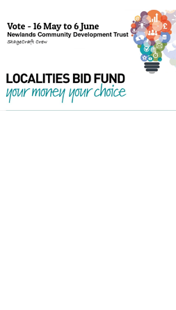 Localities Bid Fund - Vote for Newlands StageCraft Crew
