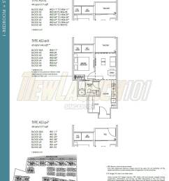kent ridge hill residences floor plan 1 bedroom study type as1a [ 1007 x 1349 Pixel ]