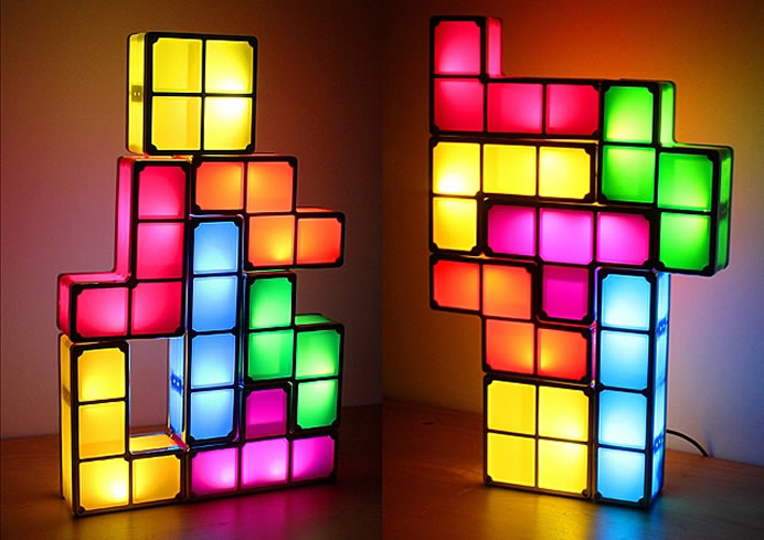 Stackable USB LED lights bring Tetris to the real world
