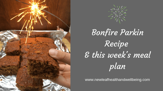 bonfire parkin recipe meal plan