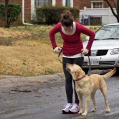 Running with my girl Stella
