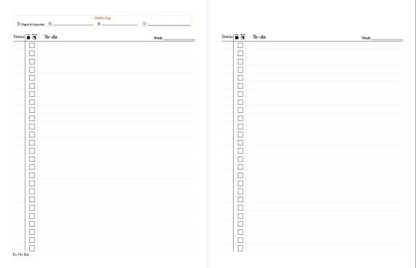 printable planner bonus to do list