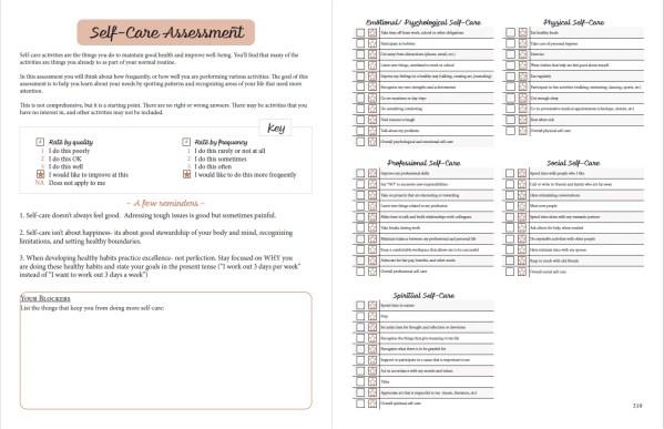 printable planner self care assessment