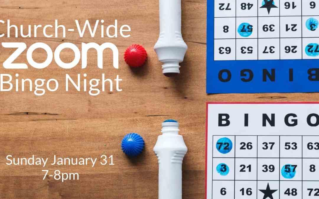 Church-Wide Zoom Bingo Night