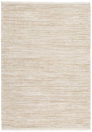 Newlife Rugs Stria beige and white 100% recycled plastic rug