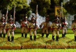 German Fusiliers Advancing - 1806 (helmet)
