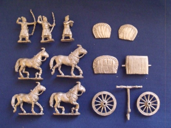 4 Horse Chariot and crew