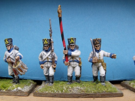German Command Advancing/Marching ( Shako )