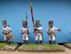 German Command Advancing/Marching ( Shako )
