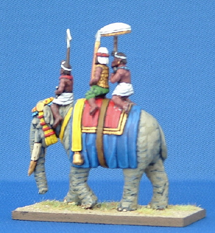 Indian Elephant Driver, Spearman and Parasol Bearer