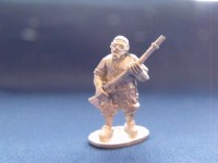 Barbary Pirate Advancing with Musket in Skull Cap