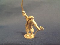 Barbary Pirate with Scimitar and Muslim Axe in Turban