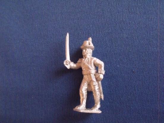 British Marine Officer, Round hat, Advancing