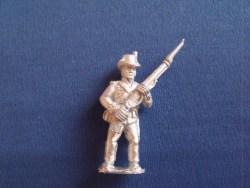British Marine, Round hat, standing at the ready